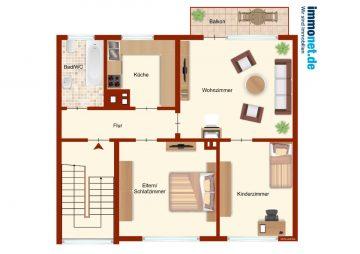 3 ZKB Wohnung im 1.OG in Westerkappeln zu vermieten, 65 qm, 49492 Westerkappeln, Etagenwohnung