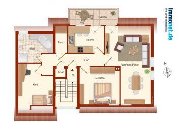 Dachgeschosswohnung 3 ZKB, 81 m², in Westerkappeln zu vermieten., 49492 Westerkappeln, Dachgeschosswohnung